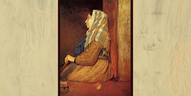 A Roman Beggar Woman by Edgar Degas- WikiArt