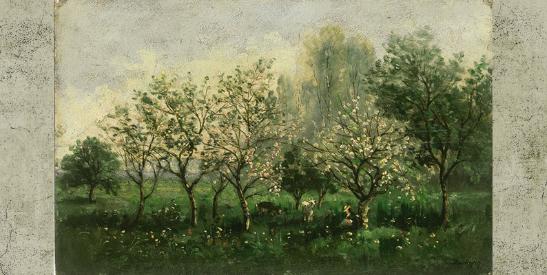 Apple Trees in Blossom by Charles-Francois Daubigny