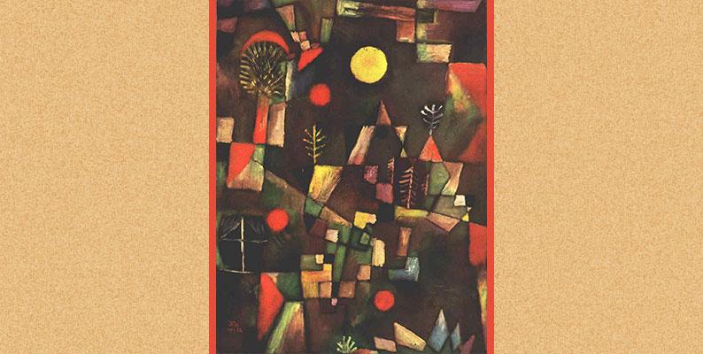 चंदा मामा के गाँव Full moon by Paul Klee