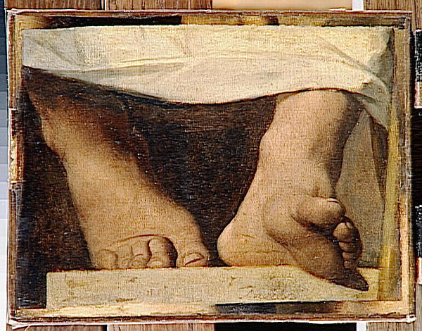 Study for the Apotheosis of Homer, Homer's feet by Jean Auguste Dominique Ingres