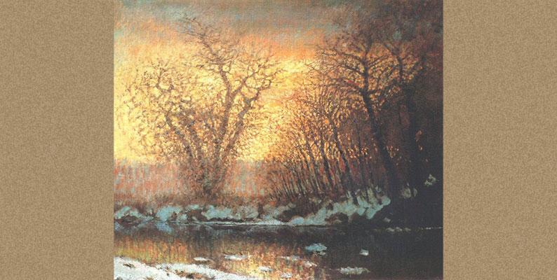 फिर फागुन आ गया (कविता) Snow-melting by Laszlo Mednyanszky- WikiArt